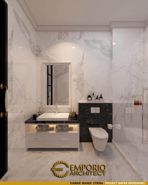 Interior Design Mr. Wandaniel Classic House 1 Floor Design - Sumatera Utara