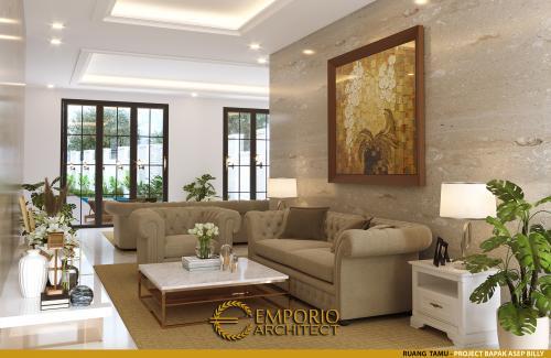 Desain Interior Desain Rumah Classic 1 Lantai Bapak Asep Billy