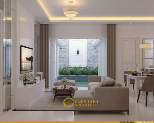 Interior Design Mrs. Iyus Modern House 3 Floors Design - Jakarta