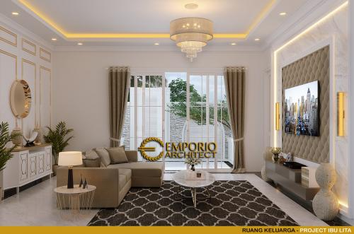 Interior Design Mrs. Lita Classic House 2 Floors Design - Cibubur, Jakarta Timur
