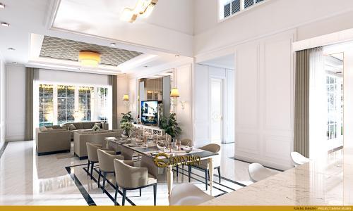 Desain Interior Desain Rumah Classic 2 Lantai Bapak Mubin