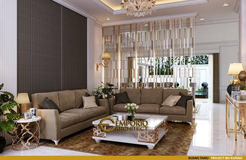 Interior Design Mrs. Karina Classic House 2 Floors Design - Jambi