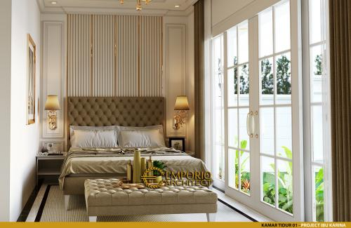Interior Design Mrs. Karina Classic House 2 Floors Design - Jambi