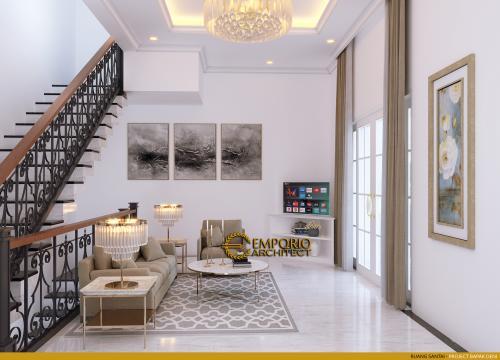 Interior Design Mr. Deni III Classic House 2 Floors Design - Karawang, Jawa Barat