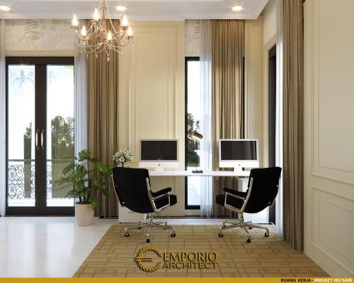Interior Design Mrs. Sari Classic House 2 Floors Design - Aceh