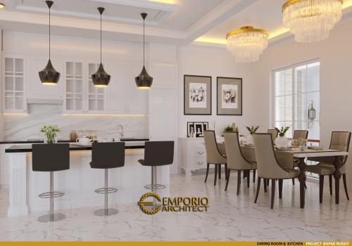 Interior Design Mr. Ruddy Classic House 2 Floors Design - Jakarta Utara