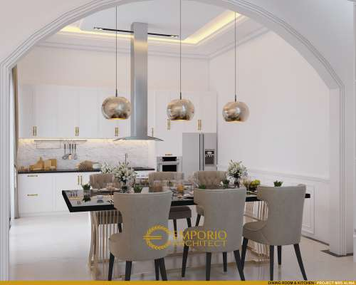 Desain Interior Desain Rumah Classic 2 Lantai Ibu Alina