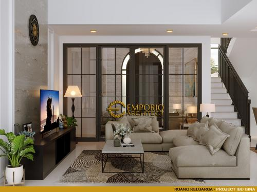 Desain Interior Desain Rumah Classic 2.5 Lantai Ibu Gina