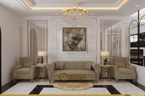 Desain Interior Desain Rumah Classic 3.5 Lantai Ibu Tien
