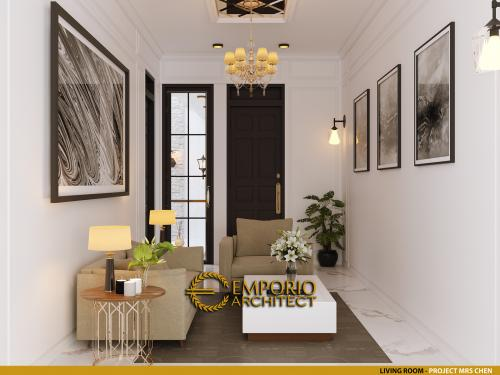 Interior Design Mrs. Chen Classic Modern House 2.5 Floors Design - Jakarta Barat