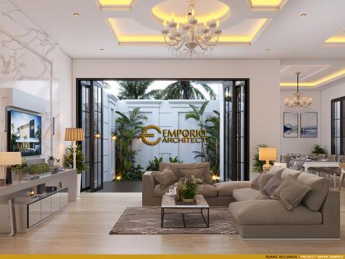 Desain Interior Desain Rumah Classic Modern 3.5 Lantai Bapak Ramses