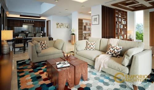 Desain Interior Desain Rumah Modern 2 Lantai Ibu Dina