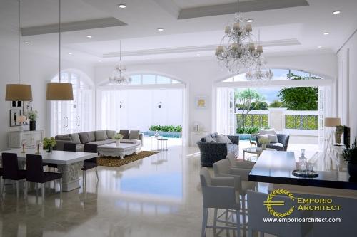 Desain Interior Desain Rumah Classic 2 Lantai Ibu Endang