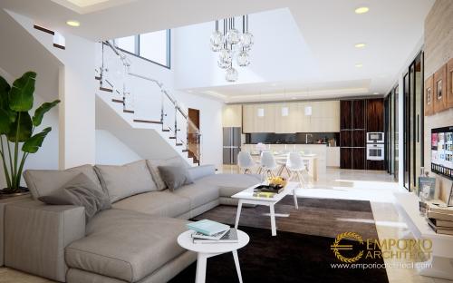 Desain Interior Desain Rumah Modern 2 Lantai Ibu Friska