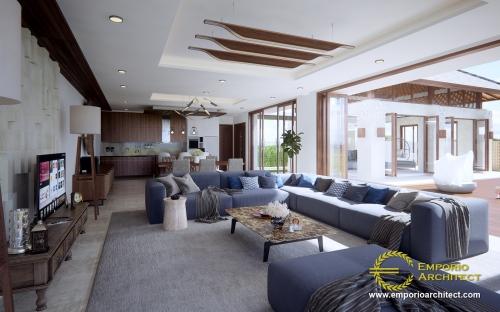 Desain Interior Desain Rumah Villa Bali 2 Lantai Ibu Heri
