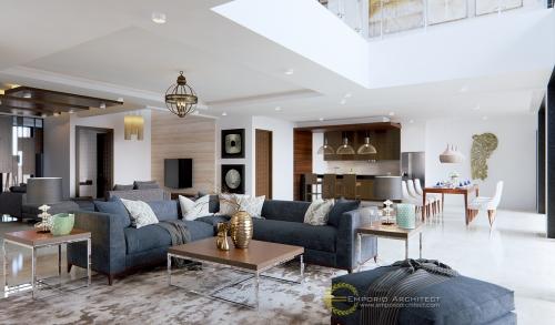 Desain Interior Desain Rumah Modern 2 Lantai Ibu Ista