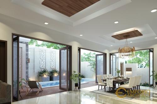 Desain Interior Desain Rumah Villa Bali 2 Lantai Ibu Ponky