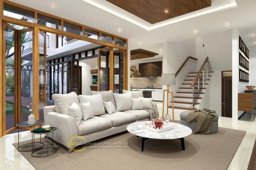 Desain Interior Desain Rumah Villa Bali 2 Lantai Ibu Susana