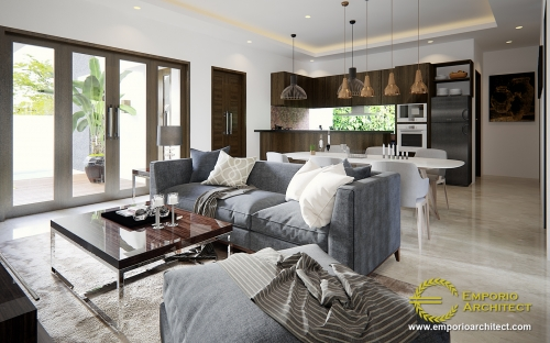 Interior Design Mrs. Efa Villa Bali House 1 Floor Design - Nusa Tenggara Barat
