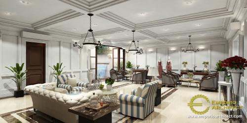Interior Design Mrs. Tuti Mediteran Boutique 2 Floors Design - Bandung