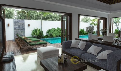 Desain Interior Desain Rumah Villa Bali 2 Lantai Ibu Wiwit