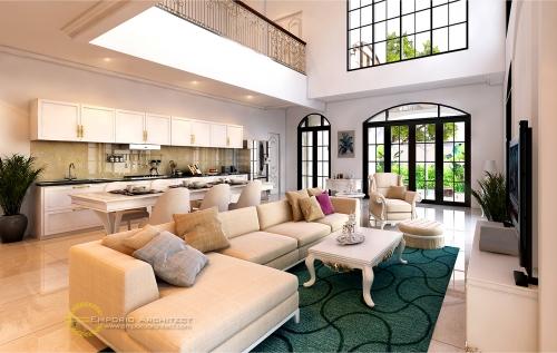 Desain Interior Desain Rumah Mediteran 2 Lantai Kavling 9 Bapak Pramudya