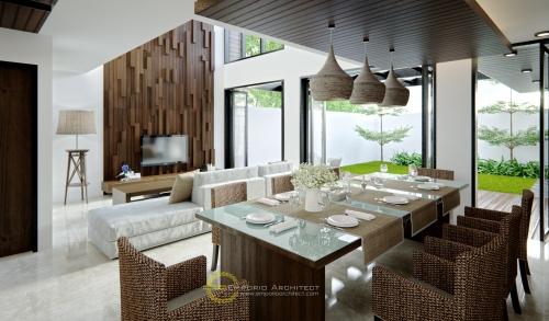Desain Interior Desain Rumah Modern 2 Lantai Keluarga Bapak Andrika