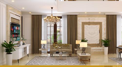 Desain Interior Desain Rumah Mediteran 2 Lantai Ibu Nurul