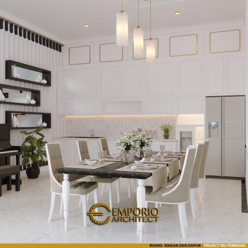 Desain Interior Desain Rumah Mediteran 3 Lantai Ibu Febriana