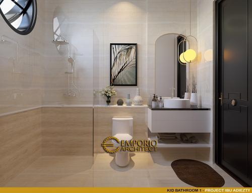 Desain Interior Desain Rumah Mediteran 3 Lantai Ibu Adiezty