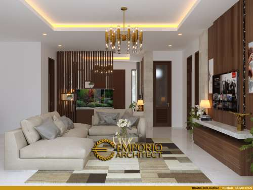 Desain Interior Desain Rumah Villa Bali Modern 1 Lantai Bapak Ivan