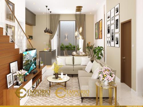 Desain Interior Desain Rumah Modern 2 Lantai Bapak Johan