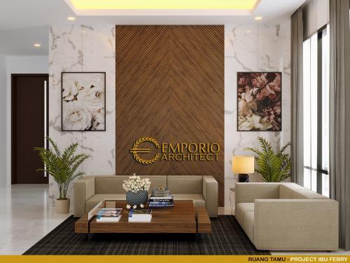 Desain Interior Desain Rumah Modern 2 Lantai Ibu Febry