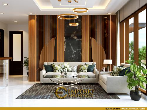 Desain Interior Desain Rumah Modern 2 Lantai Bapak Steven