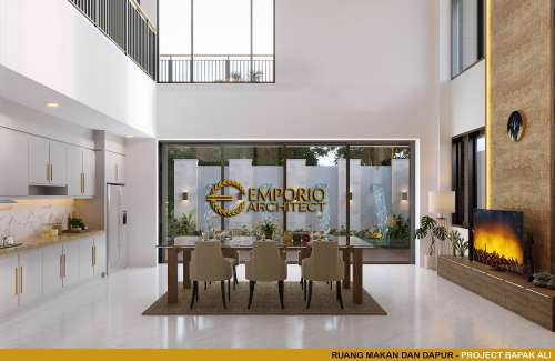 Desain Interior Desain Rumah Modern 2 Lantai Bapak Ali