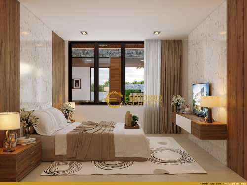 Interior Design Mrs. Tina Modern House 2 Floors Design - Majalengka, Jawa Barat