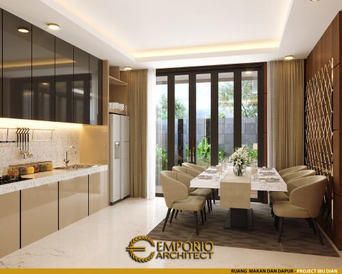 Desain Interior Desain Rumah Modern 2.5 Lantai Ibu Dian