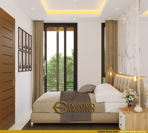 Desain Interior Desain Rumah Modern 2.5 Lantai Bapak Fauzan