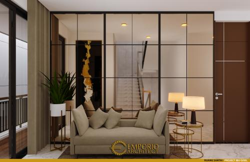 Desain Interior Desain Rumah Modern 3 Lantai Ibu Gisel