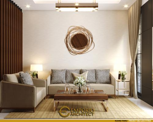 Desain Interior Desain Rumah Modern 3 Lantai Ibu Liza Fitria