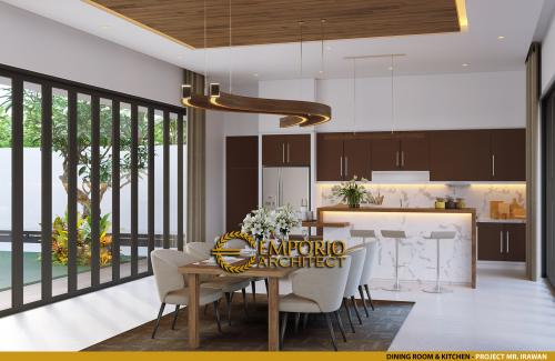 Interior Design Mr. Irawan Modern House 3 Floors Design - Jakarta