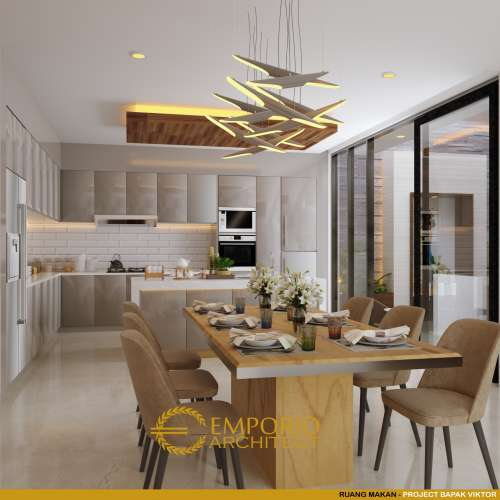 Interior Design Mr. Victor Modern House 3 Floors Design - Jakarta