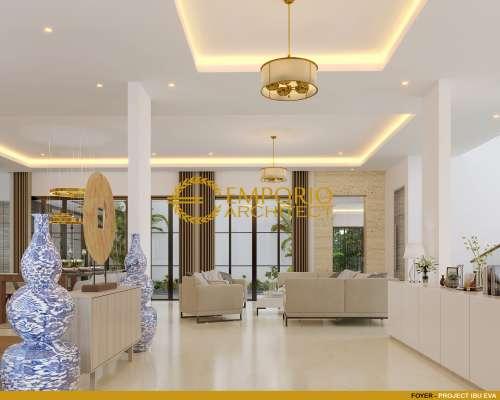 Desain Interior Desain Rumah Hook Modern 3 Lantai Ibu Eva