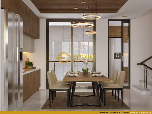 Interior Design Mrs. Lellyta Classic House 1 Floor Design - Kutai Kartanegara, Kalimantan Timur