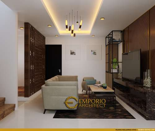 Desain Interior Desain Rumah Modern Classic 2.5 Lantai Bapak Dwi
