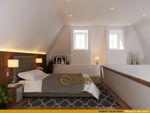 Desain Interior Desain Rumah Modern Classic 4.5 Lantai Ibu Santi