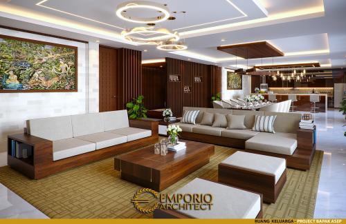 Desain Interior Desain Rumah Villa Bali 1 Lantai Bapak Asep