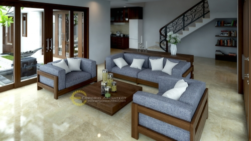 Desain Interior Desain Villa Style Villa Bali 2 Lantai Bapak Ishak Tayeb