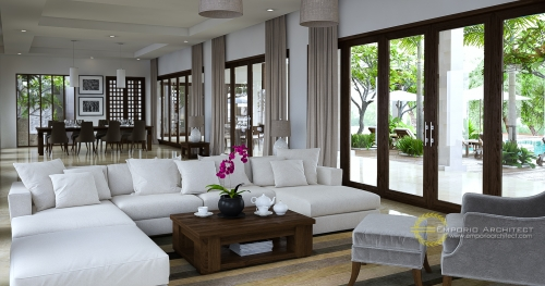 Desain Interior Desain Villa Style Villa Bali 2 Lantai Bapak Johan