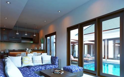 Desain Interior Desain Villa Style Villa Bali 2 Lantai Bapak Wahyu
